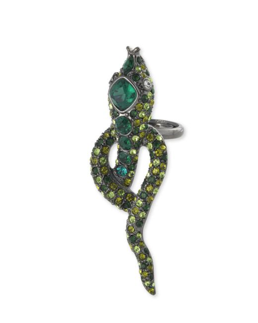 Kenneth Jay Lane | Multicolor Multi-green Snake Ring | Lyst