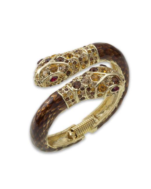 Kenneth Jay Lane | Brown Snake Cuff | Lyst