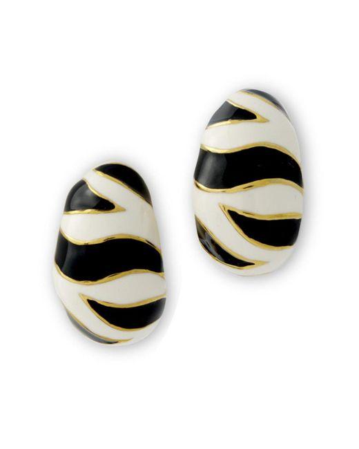 Kenneth Jay Lane   Multicolor Tiger Stripe Pierced Earring   Lyst