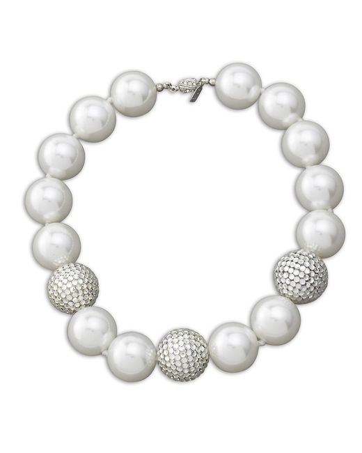 Kenneth Jay Lane | White Pearl Necklace | Lyst