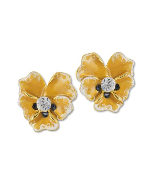 Kenneth Jay Lane | Yellow Flower Clip Earring | Lyst
