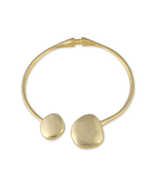 Kenneth Jay Lane | Metallic Satin Gold Collar Necklace | Lyst