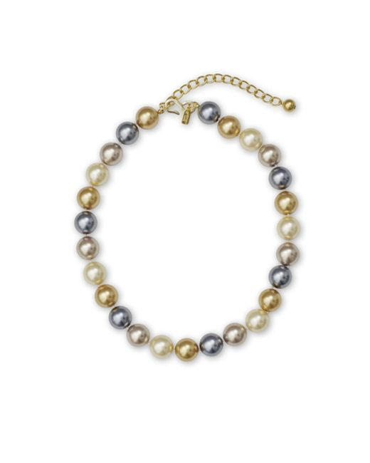 "Kenneth Jay Lane | Multicolor 16"" Multi Color Pearl Necklace 