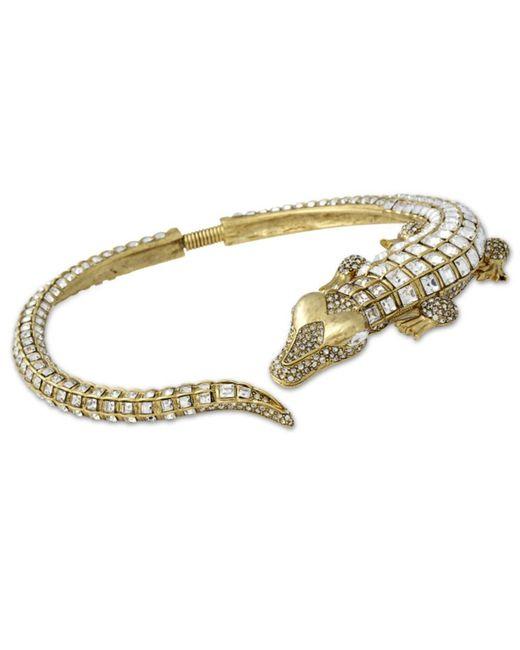 Kenneth Jay Lane | Metallic Crystal Alligator Necklace | Lyst