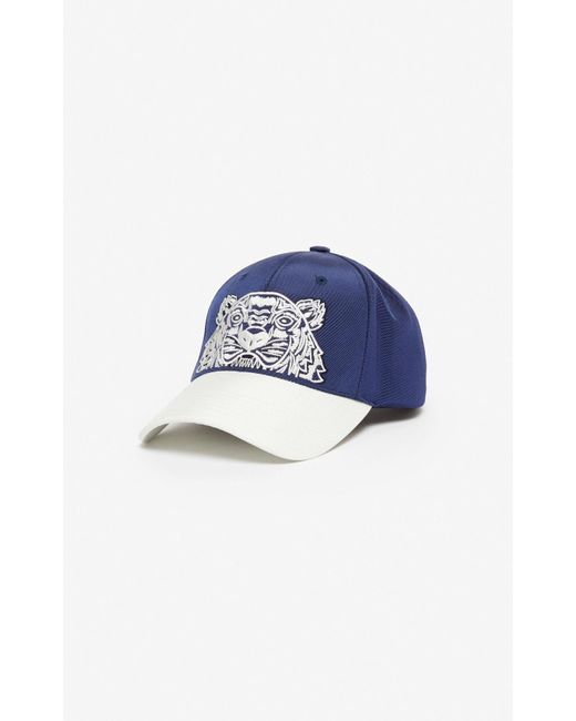 KENZO Blue 'colorblock Tiger' Cap for men