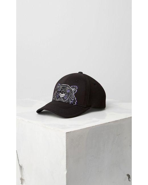 KENZO - Black Neoprene Tiger Cap for Men - Lyst