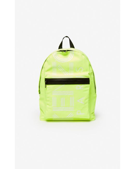 Large Logo backpack KENZO en coloris Yellow