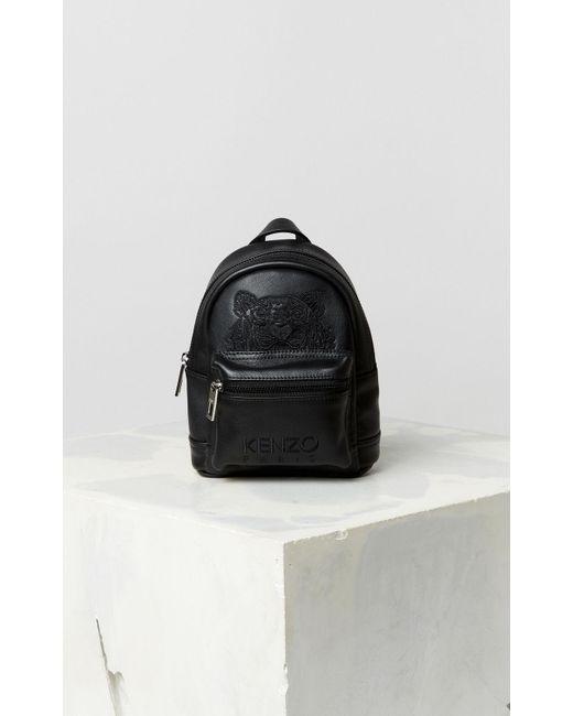 47c879e56e KENZO Tiger Mini Leather Backpack Black in Black for Men - Lyst