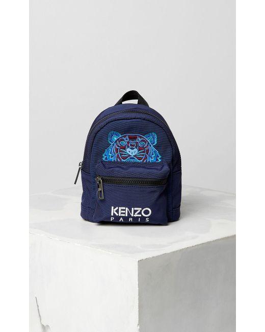 Mini Tiger Canvas backpack KENZO pour homme en coloris Blue
