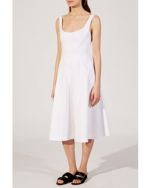 Khaite - White The Cindy Dress - Lyst