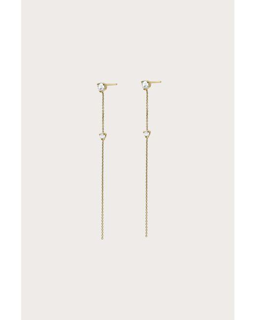 Wwake - Natural Two-stone Drop Earrings - Lyst