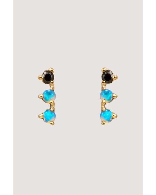 Wwake - Blue 3 Step Earrings - Lyst