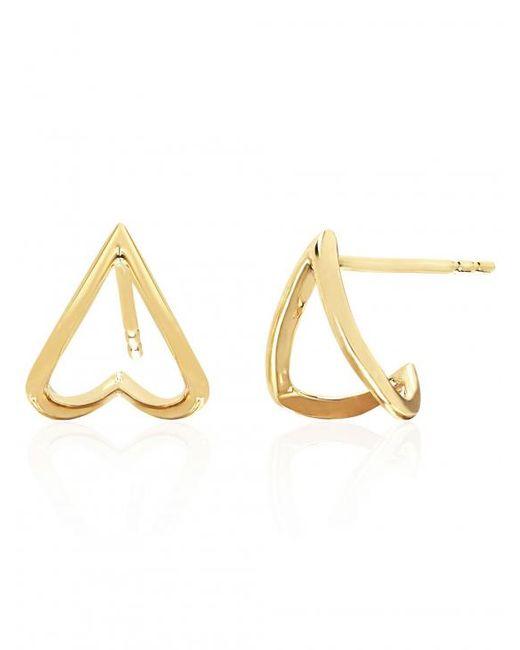 EF Collection - Metallic Gold Chevron Huggie Earrings - Lyst