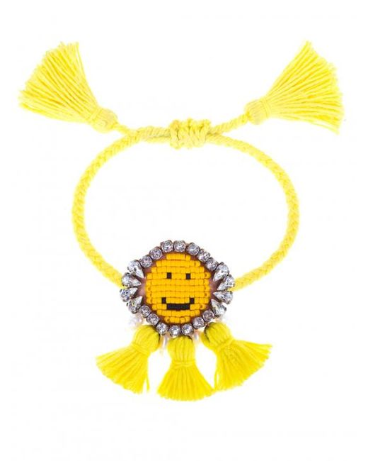 Shourouk - Yellow 'hippie Happy Face' Bracelet - Lyst