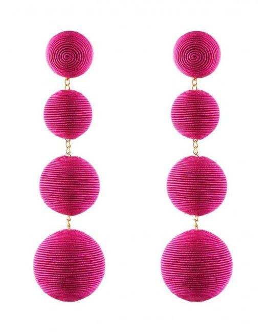 Rebecca de Ravenel | Pink Les Bonbons Fuchsia Earrings | Lyst