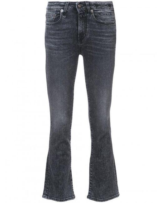 R13   Blue Kick Fit Crop Jeans   Lyst