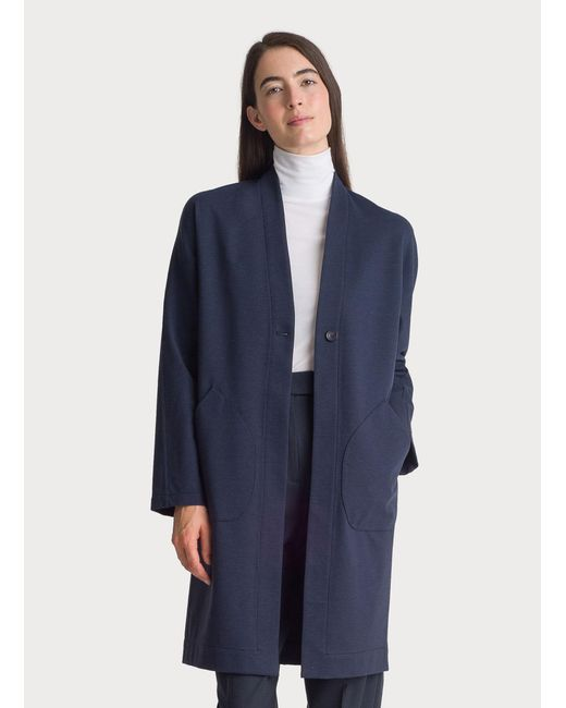 facfa1be9487 Kit and Ace - Blue Long Stretch Jacket - Lyst ...
