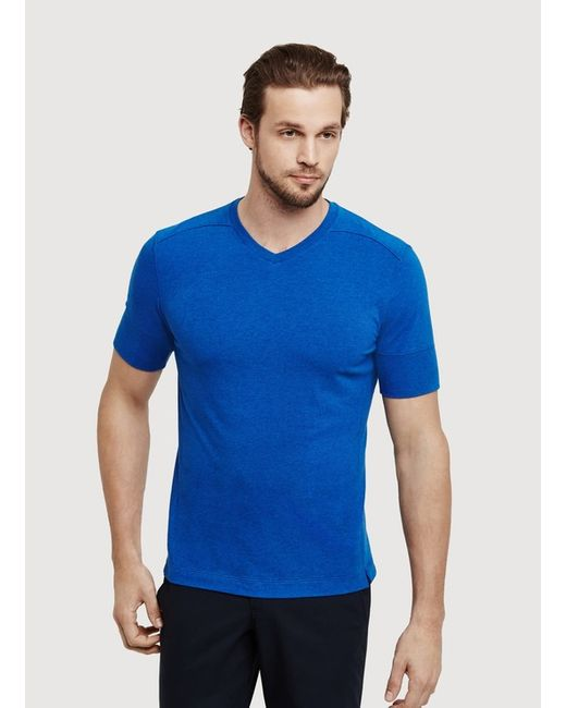Kit and ace V Tee in Blue for Men (Iconic Blue)