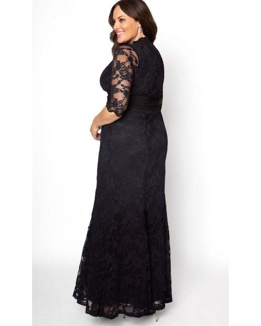 3f02361d89e90 ... Kiyonna - Black Screen Siren Lace Gown - Lyst ...