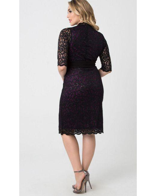 a3f7e987782 ... Kiyonna - Black Lumiere Lace Dress - Lyst ...