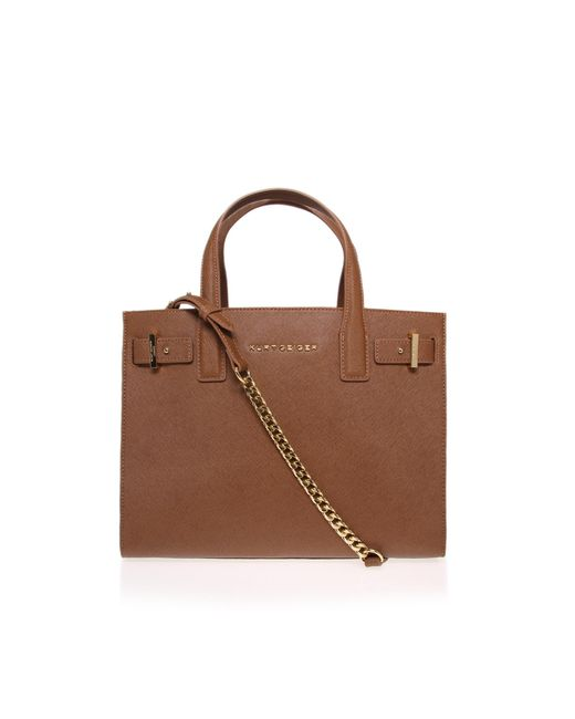 Kurt Geiger | Brown Saffiano London Tote Bag | Lyst
