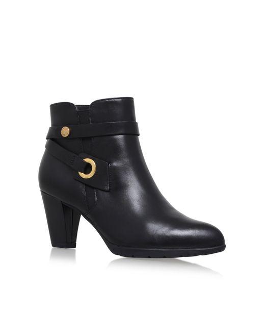 Anne Klein | Black Stefica High Heel Ankle Boots | Lyst