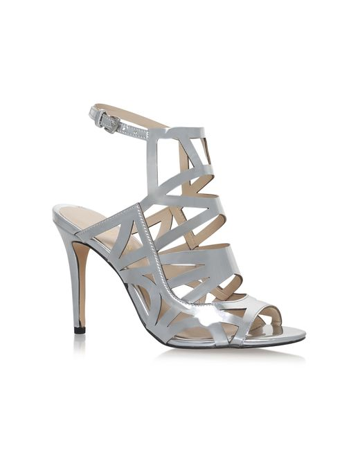 Nine West | Metallic Nasira High Heel Sandals | Lyst
