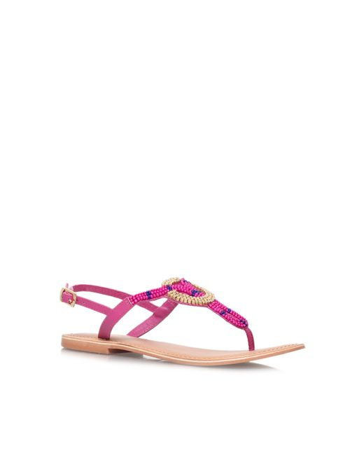 Carvela Kurt Geiger | Purple Kouros Flat Toe Post Sandals | Lyst