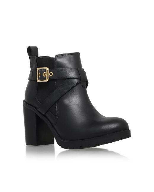 Carvela Kurt Geiger | Black Tacoma Buckle Block Heel Ankle Boots | Lyst