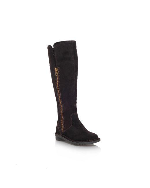 Carvela Kurt Geiger | Brown Vanessa Low Heel Knee Boots | Lyst