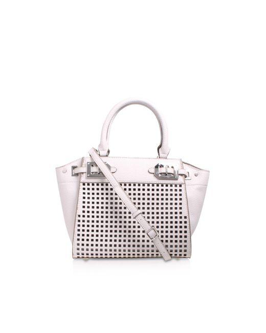 Nine West - White Gleam Team Mini Satchel Bag - Lyst