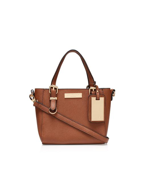 Carvela Kurt Geiger - Brown Micro Din Bag In Tan - Lyst