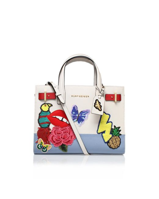 Kurt Geiger - Multicolor Saffiano London Tote In Other - Lyst