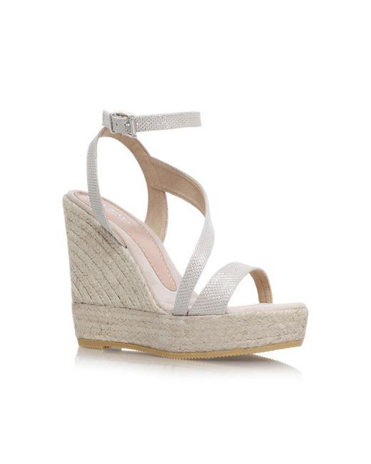 Carvela Kurt Geiger   Metallic Klassy High Wedge Heel Strappy Sandals   Lyst