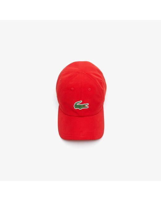 ... Lacoste - Red Sport Tennis Microfiber Crocodile Cap for Men - Lyst 5f1dd4736879