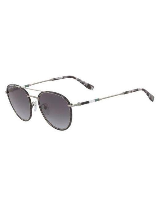 9cd97c6d9af Lacoste. Men s Metal Oval Novak Djokovic Capsule Collection Sunglasses