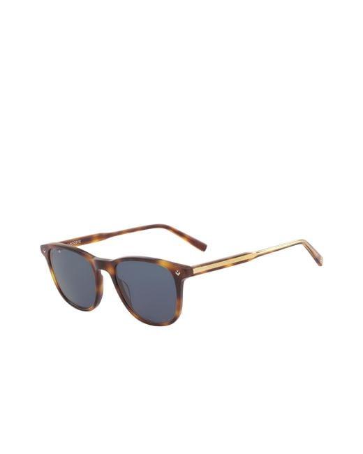 96eb387f46 ... Lacoste - Blue Plastic Petit Piqué Sunglasses - Lyst