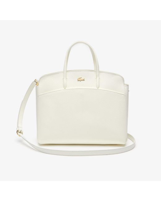 3a2ad5622d0033 ... Lacoste - Multicolor Chantaco Leather Zip Pocket Tote Bag - Lyst ...