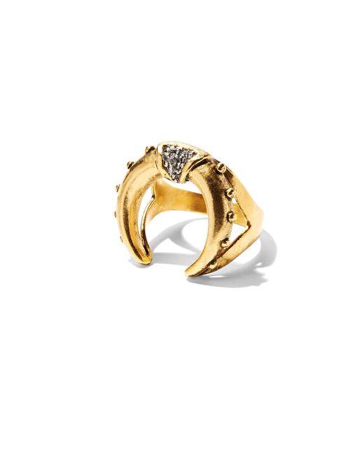 Lady Grey   Metallic Mini Crescent Ring In Gold   Lyst