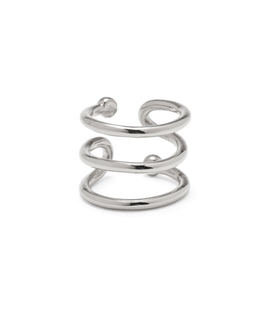 Lady Grey | Multicolor Swerve Ring In Silver | Lyst