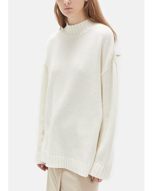 Organic by john patrick Big Sweater in White | Lyst