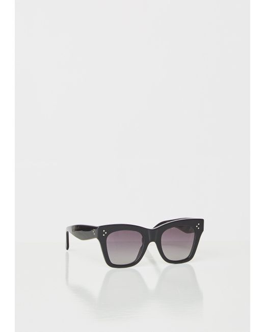 e0e98ccd9bd ... Céline - Black Oversized Square Acetate Sunglasses - Lyst