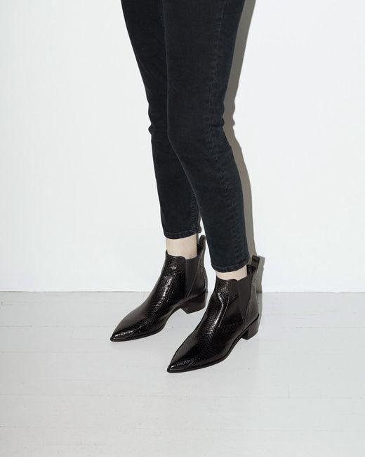 acne jensen snake ankle boot in black save 30 lyst. Black Bedroom Furniture Sets. Home Design Ideas