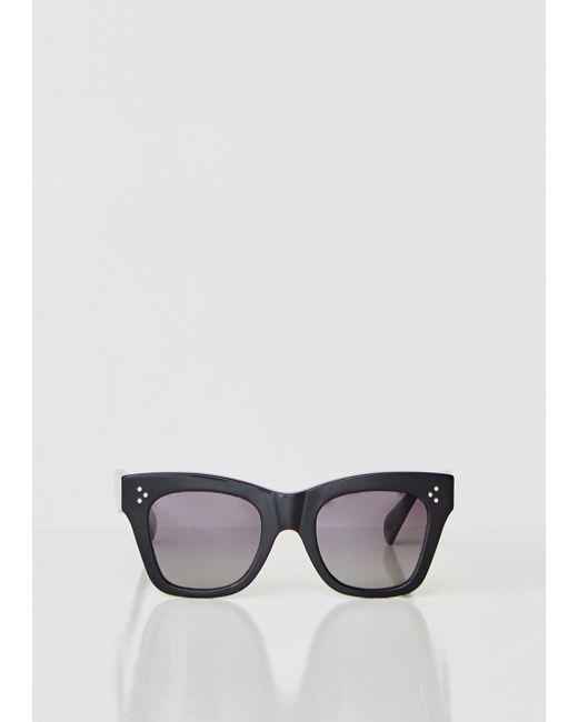 46d8392f118 Céline - Black Oversized Square Acetate Sunglasses - Lyst ...