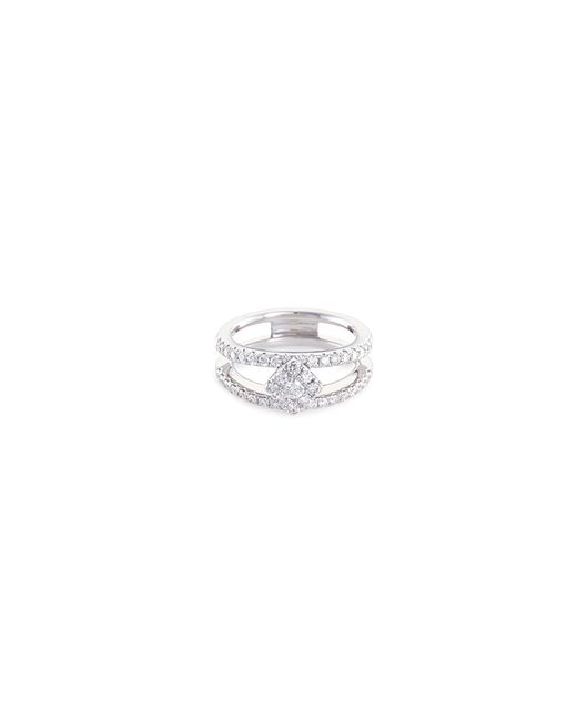 LC COLLECTION - Metallic 'art Deco' Diamond 18k White Gold Ring - Lyst