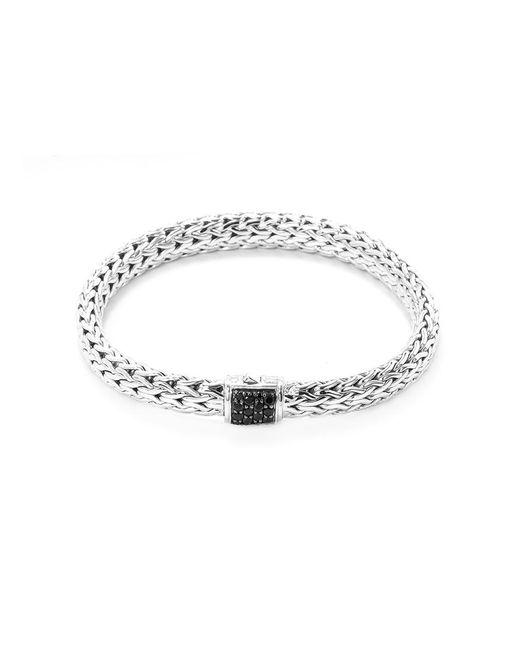 John Hardy - Metallic Sapphire Silver Woven Chain Bracelet - Lyst