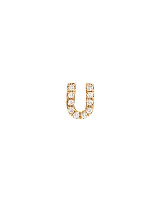Loquet London - Metallic Diamond 18k Yellow Gold Letter Charm – U - Lyst