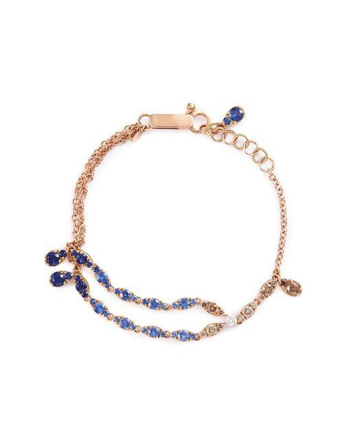 Ferrari Firenze | Metallic 'niagara' Diamond Sapphire 18k Rose Gold Bracelet | Lyst