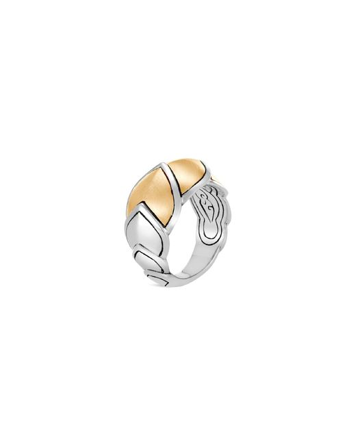 John Hardy - Metallic Sterling Silver & 18k Bonded Gold Legends Naga Brushed Medium Ring - Lyst