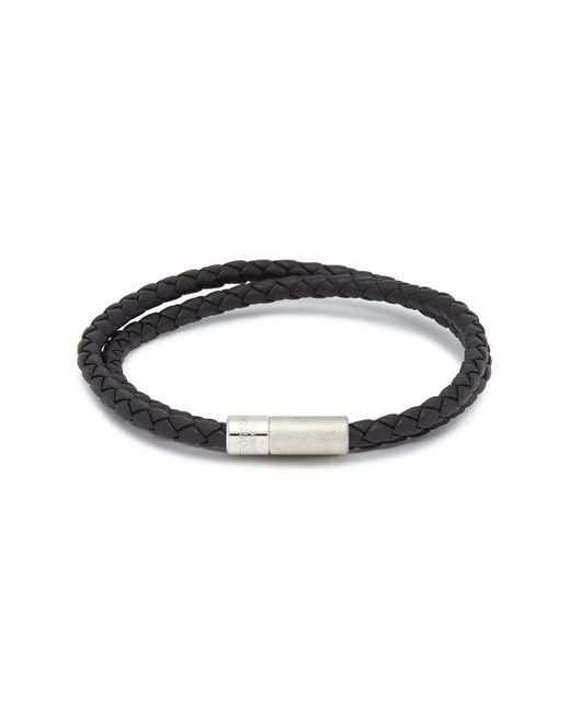 Tateossian - Brown 'pop Rigato' Double Wrap Braided Leather Bracelet for Men - Lyst